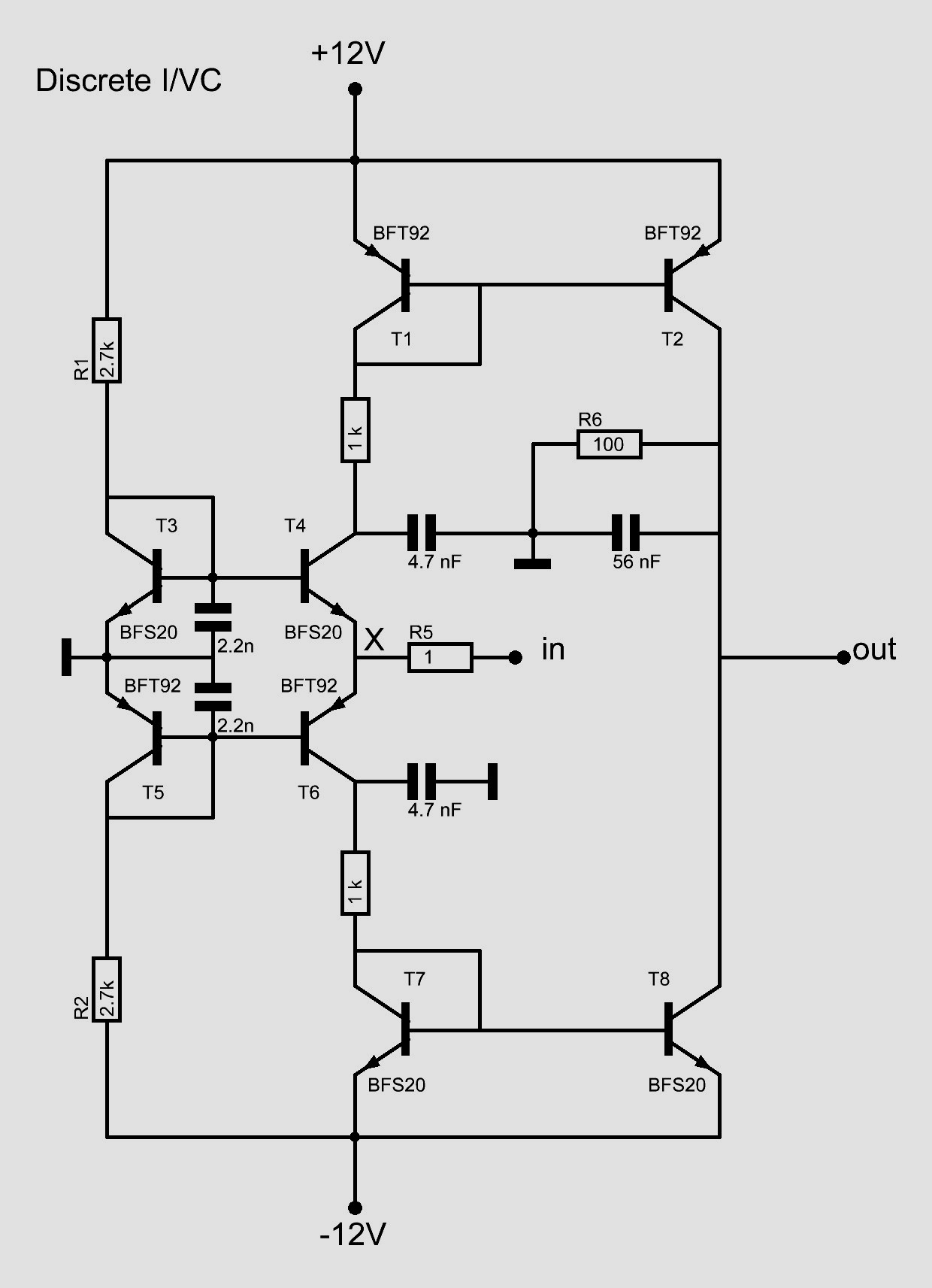 I V Converter Low Pass Audio Filter Circuit The
