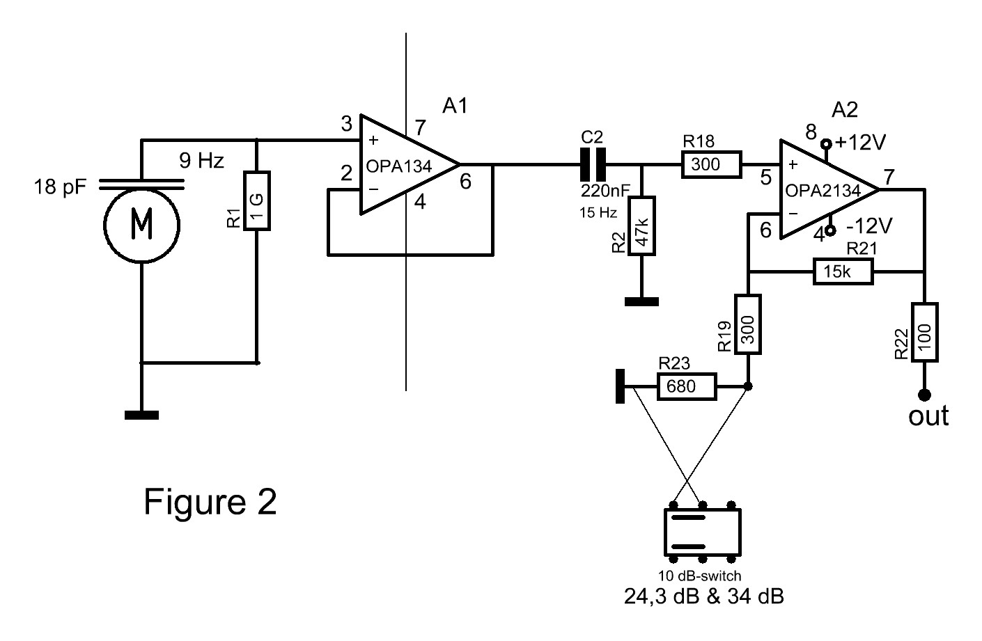 Condenser Microphone Pre Amp With Bootstrapped Op Low Noise Audio Preamplifier Circuit The Line Driver