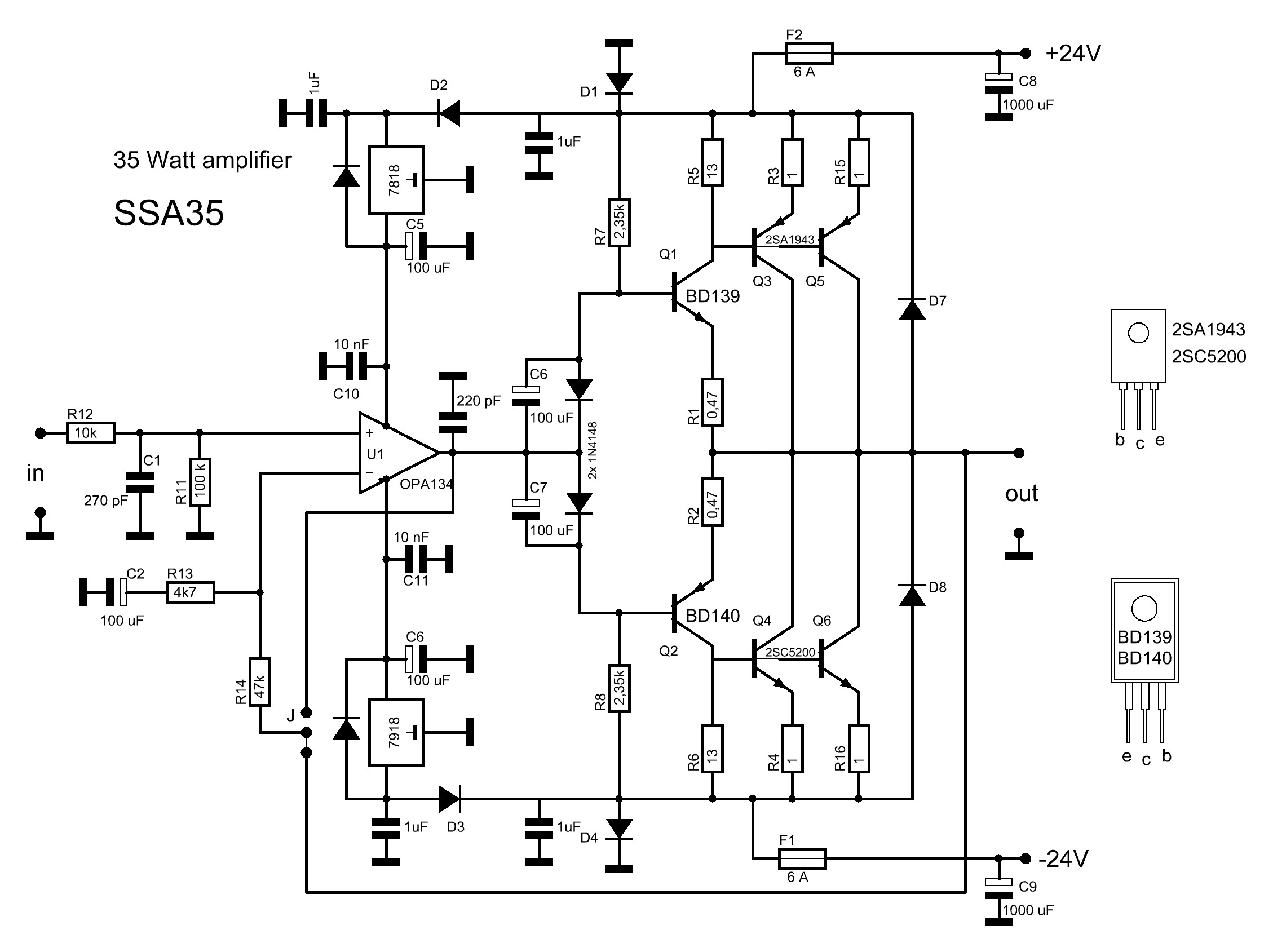 2sc5200 Amplifier Circuit Diagrams | Wiring Library