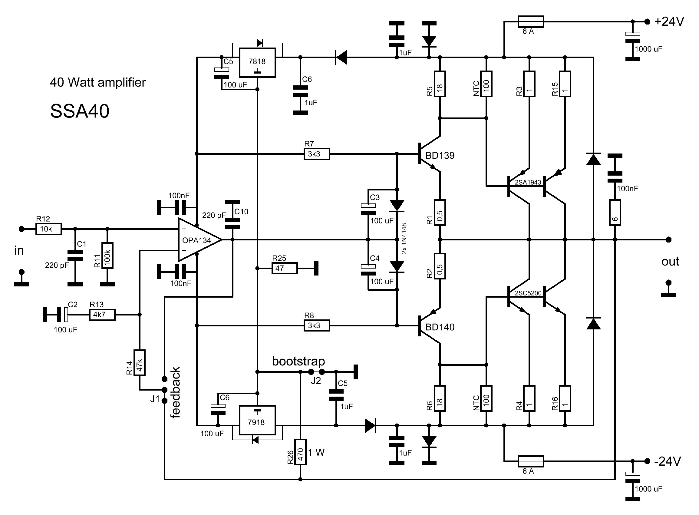 2sc5200 2sa1943 Amplifier Circuit - Circuit Diagram Images
